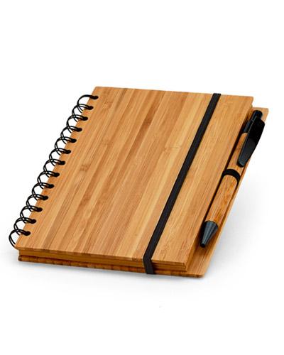 Brindes Personalizados - Bloco Ecólogico de Bambu Personalizado