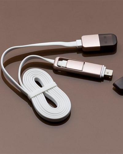 Brindes Personalizados - Cabo de Dados USB para Carregador Portátil Personalizado