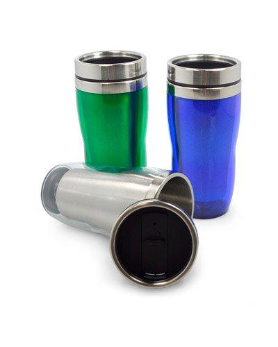 Brindes Personalizados - Caneca de Aluminio com Tampa