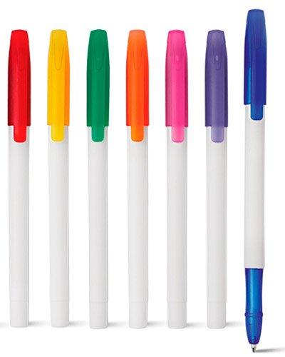 Brindes Personalizados - Caneta Plastica Colorida Promocional