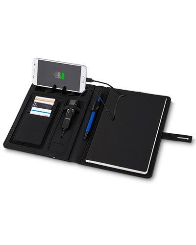 Brindes Personalizados - Capa para Caderno com Powerbank para Brindes