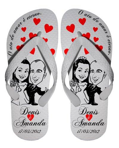 Brindes Personalizados - Chinelos Personalizados Casamento