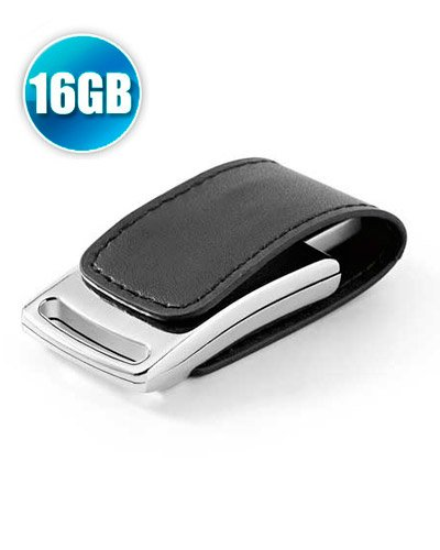 Brindes Personalizados - Pen drive 16 GB em Couro com Imã para Brindes