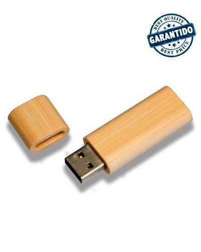 Brindes Personalizados - Pen drive 4 gb de Bambu Personalizado