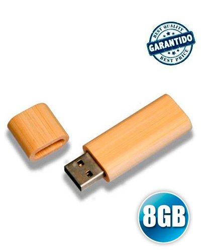Brindes Personalizados - Pen drive 8 GB de Bambu Personalizado