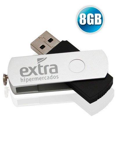 Brindes Personalizados - Pen drive 8GB Modelo XM