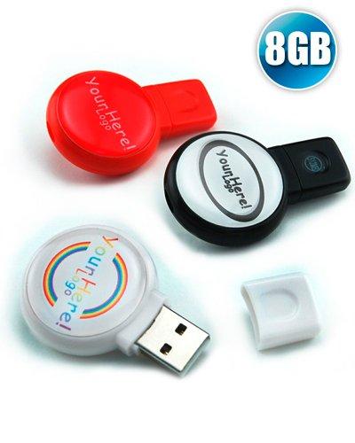 Brindes Personalizados - Pen drive 8GB Redondo para Brindes