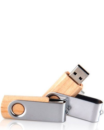 Brindes Personalizados - Pen drive de Bambu 4 gb Personalizado