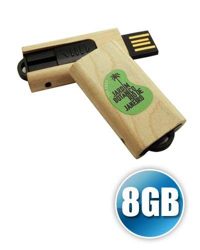 Brindes Personalizados - Pen drive de Madeira 8GB Personalizado