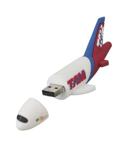 Brindes - Pen drive Emborrachado Avião 3D
