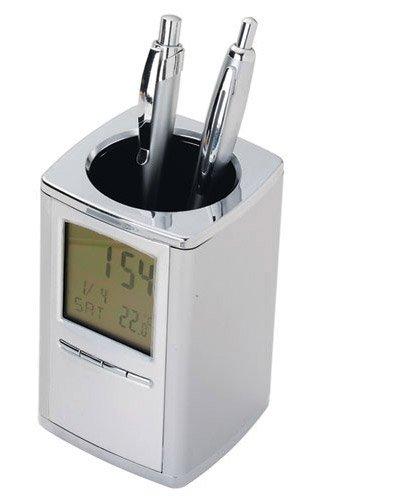 Brindes Personalizados - Porta Canetas com Relógio Digital Personalizado